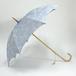 日傘 牡丹柄 淡ブルー