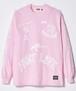 """Rakugaki """"PAINT LIFE"""" LONG T-Shirts """"REVIVAL"""" Pink × White"""