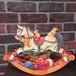 木馬とテディベア 立体クリスマスカード イギリス製 メッセージカード Horse Rocker グリーティングカード CD-006