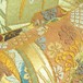 帯タペストリー 袋帯 金・扇・御簾紋様1