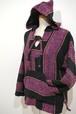 1980's メキシカンパーカ 希少ウィメンズサイズ 紫×黒 表記(S) バハジャケット メキパー