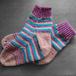 手編み靴下:マルチシマシマ
