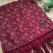 1960s Total Scarf made in England Red