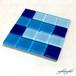 ガラスタイルコースター(stripe~blue~)