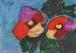 二組の花弁(アクリル絵画)