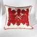イーラーショシュ刺繍のクッションカバー(赤)