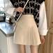 【ボトムス】新作韓国スタイリッシュハイウエストシンプル 台形スカート27279372