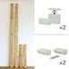 【棚セットM】 LABRICO ラブリコオフホワイトと2×4材ラスティック・パイン(BRIWAX) 取付幅~2438mm カット無料/送料無料 JXO-21