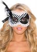 [SHIRLEY] セクシー黒白ストライプ アシンメトリー パイレーツ マスク 仮面  [SH-929]
