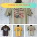 【POWER TO THE PEOPLE】古着風イラストTシャツ VintageWash加工 RankS