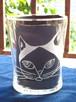 猫グラスシリーズ「ハチワレキャット / Black and White」縁起のいい富士額!(ご希望のお名前を入れることもできます)