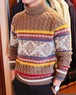 +39masq Fair Isle×cable Turtleneck Sweater