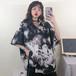 【トップス】プリント折襟半袖シングルブレストシャツ20473595