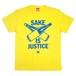 【SAKE Tシャツ】SAKE IS JUSTICE / イエロー
