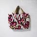アフリカンプリント・ハッピーピンクのグラニー風バッグ /着物に合うバッグ