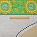 アーチ形レースカーテン(横220×縦110)