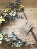 かすみ草とコットンパールの可愛いイヤリング『イエローブーケ』