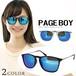 サングラス py2545 ミラーレンズ ページボーイ UVカット サングラス メンズ & レディース ウェリントン PAGE BOY