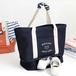 紺色 トート バッグ シューズ 靴 収納 大容量 トラベル バッグ