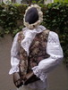 Gobelin flower pattern vest black ゴブラン織 花柄 ベスト ブラック