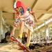 1004レディース ロングパーカー トップス プルオーバー ゆったり ダンスウェア ダンス衣装 ヒップホップ 大きいサイズ ワンピース トレンチ  プリント柄 原宿系