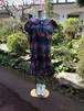 【アウトレット】きらきら★蝶とバラの素敵なAラインワンピース(裾フリル)