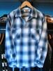 L/Sシャツ オンブレチェック ブルー