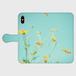 黄色いコスモス 各種 iPhone 手帳型スマホケース iPhoneX対応商品