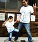 【親子ペア】青墨絵Tシャツオーダー