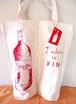手描きワインバッグ / WINE bag 2本用「Love the Wine!」