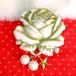 s006 大きな薔薇の帯飾りブローチ(メロングリーン)