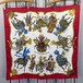 HERMES CARRES90 LES FETES DU ROI SOLEIL LARGE SIZE SILK 100% SCARF MADE IN FRANCE/エルメスカレ90シルク100%大判スカーフ(太陽の祝典)