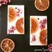 オレンジ&ピンクペッパー*アロマワックスサシェ