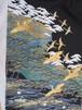 仮絵羽 黒留袖 鶴と松 (未仕立て)