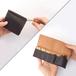 ログウッド染め革のキー&スマートキーケース【zlat/ずらっと】#縦入れ小さめタイプ #草木染めレザー #手縫い #オリジナルの1文字刻印可