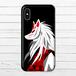 #037-004 iPhoneケース スマホケース iPhoneX 和風 メンズ Xperia iPhone5/6/6s/7/8 おしゃれ 和柄 ARROWS AQUOS タイトル:稲荷 作:プルーミィグッズ