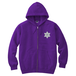 ERICH / HEXAGRAM FULL ZIP HOODED SWEATSHIRT PURPLE