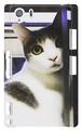 スマホケース Xperia Z1 振り向き猫