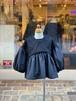 WOMENS:UNICA【ユニカ】ボリューム袖ブラウス(ブラック/目安145〜155cm)