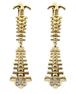 Spineピアス 脊椎 カラー:ゴールド/シルバー