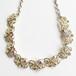 """Coro"" gold & aurora rhinestone necklace[n-204]"