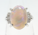 【SOLD OUT】天然ウォーターオパール ダイヤモンドリング プラチナ 2.81ct ~【Luxury】 Natural Water Opal Diamond Ring Platinum 2.81ct~