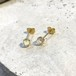 PIRI Studs Pierce K18 White Opal