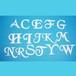 アルファベット80ミリ(ブラック)【ユリシス・シート】
