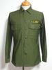 1960's U.S.ARMY コットンファティーグシャツ 表記(14 1/2×33) アメリカ軍実物 状態良好