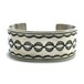 Navajo Vintage Sterling Silver Traditional Stamp Bangle by Tim Bedah