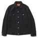 SWINGER DENIM JACKET (FADE BLACK) / RUDE GALLERY BLACK REBEL