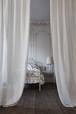 リトアニア国 LINAS社 リネンとコットンのストライプカーテン Arlesアルル501000WH