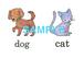 Animals(1)絵+英単語 フラッシュカードデータ(カラー)