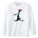 [ロングスリーブTシャツ] Penguin riding
